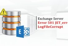 How to Encounter Exchange Server Error 501 JET
