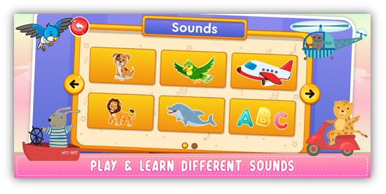 kids easy sound games and sounds