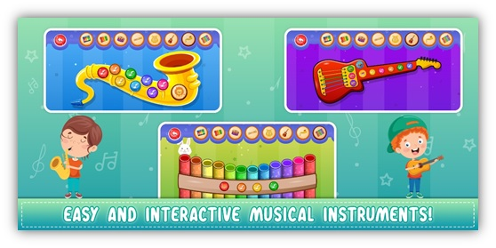 various musical instrument game for Kids